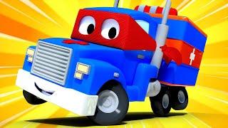 O caminhão ambulância  Carl o Super Caminhão na Cidade do Carro | Desenho animado para crianças