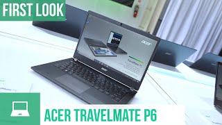Acer TravelMate P6: Robustes Notebook mit 20 Stunden Akkulaufzeit