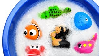 Learn Zoo Animals and Sea Animals Names Sharks Video Toys For Kids