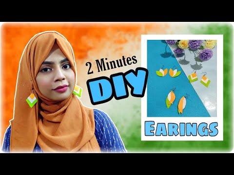 DIY Tri Colour Earings with paper || Independence Day Special Accessories || Inspire with Naima