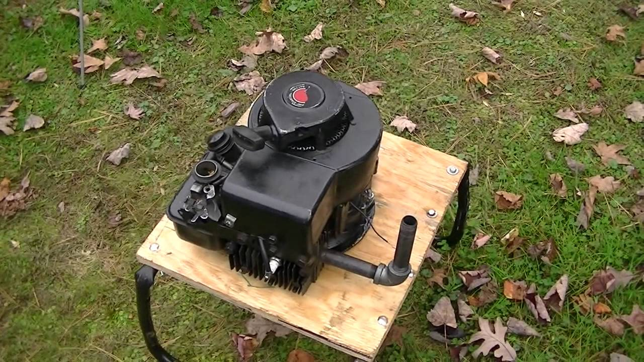 Push Mower Engine Test Stand and start / run of 3 Horse Briggs and Stratton - YouTube