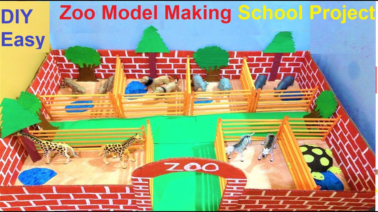 Zoo Model Making For School Project Easy Science Exhibition Science Fair Ideas Howtofunda