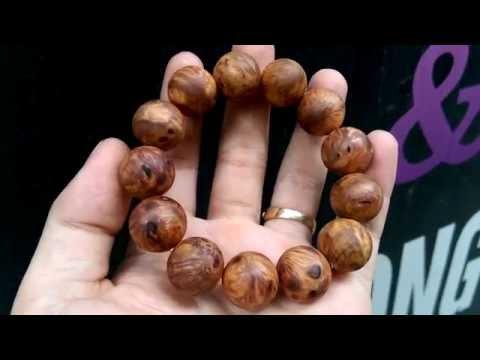 Vòng gỗ nu huyết rồng loại vân đẹp thơm nức size 16ly
