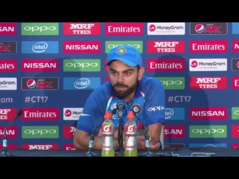 Virat Kohli after losing ICC champions trophy Final - India vs Pakistian - Press Conference 2017