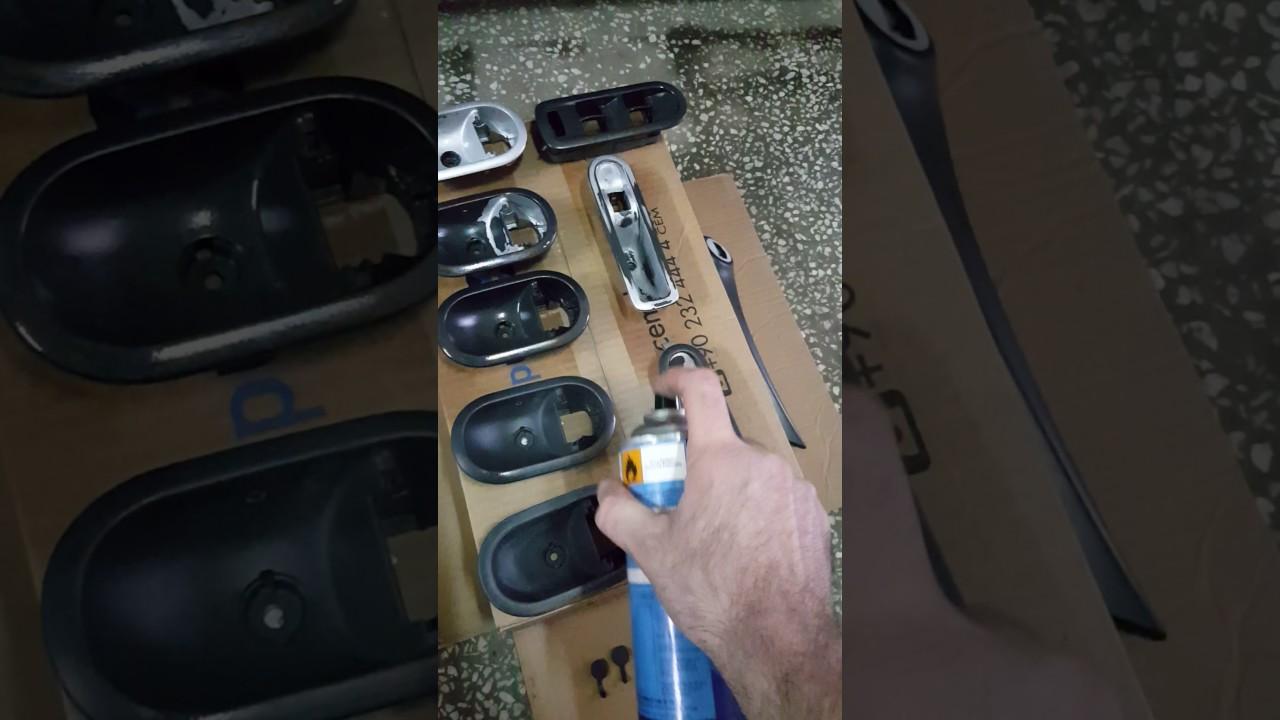 Megane 2 Kapı Kolu Ve Cam Düğmeleri Boyama Part 1 Youtube