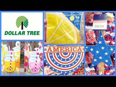 DOLLAR TREE NEW ITEMS & PATRIOTIC DECOR🍋🇺🇲