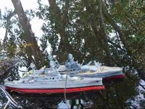 USS Arizona & sister Pennsylvania in RC action