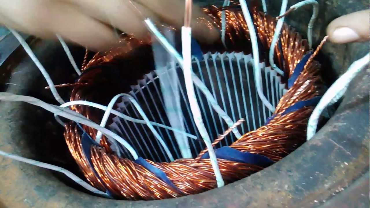 Three phase Induction motor rewinding part 3 - YouTube