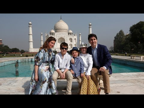 Prime Minister Justin Trudeau and family visit Agra, India