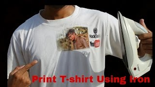 How to Print Photo on T-Shirt using IRON at Home