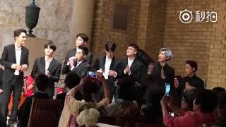 Gambar cover 170910 EXO at Momoe and (Mihawk) Gu Young's Wedding