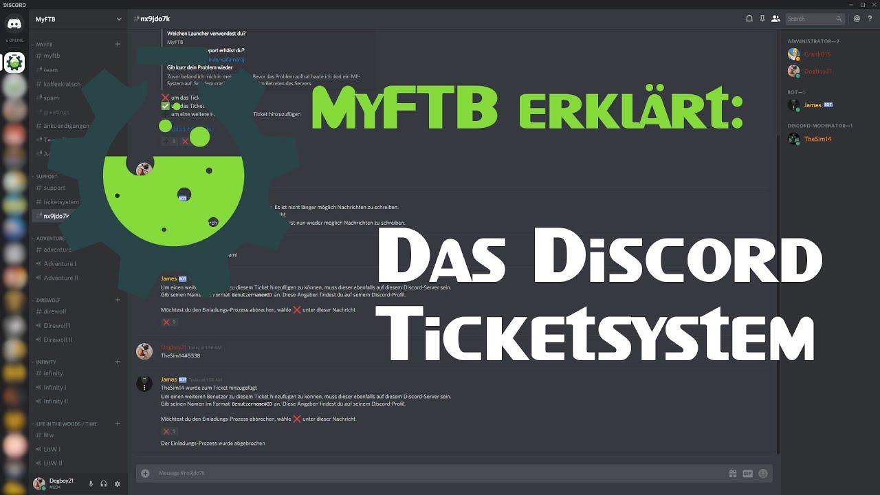 Discord Ticketsystem Tutorial | MyFTB de