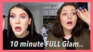 10 Minute FULL Glam Challenge.. Met Mascha! | JessieMaya