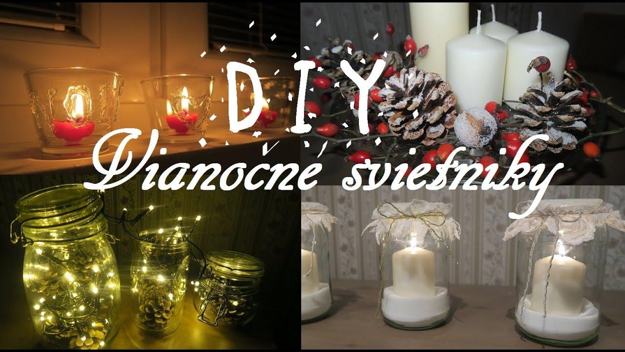 diy vianočné svietniky diy christmas candle holders youtube