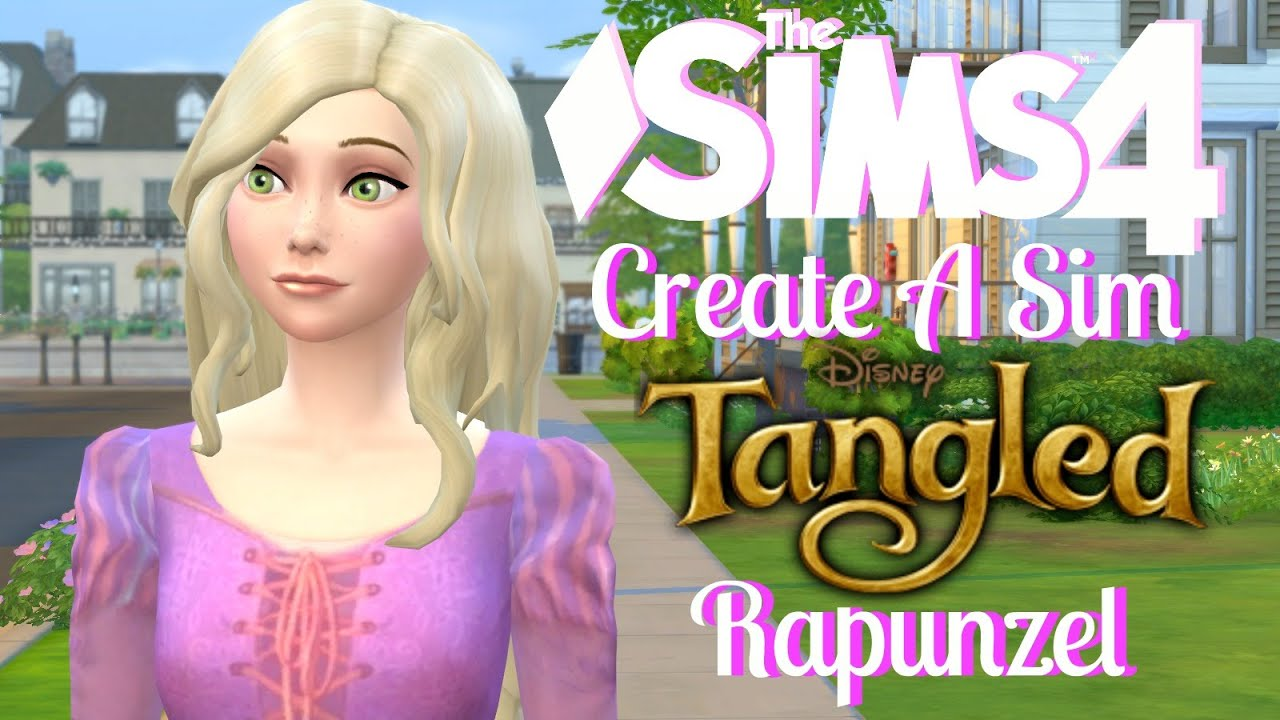 The Sims 4 Create A Sim Tangeled Rapunzel Youtube