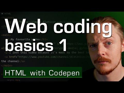 Web Coding Basics 1 - HTML With Codepen