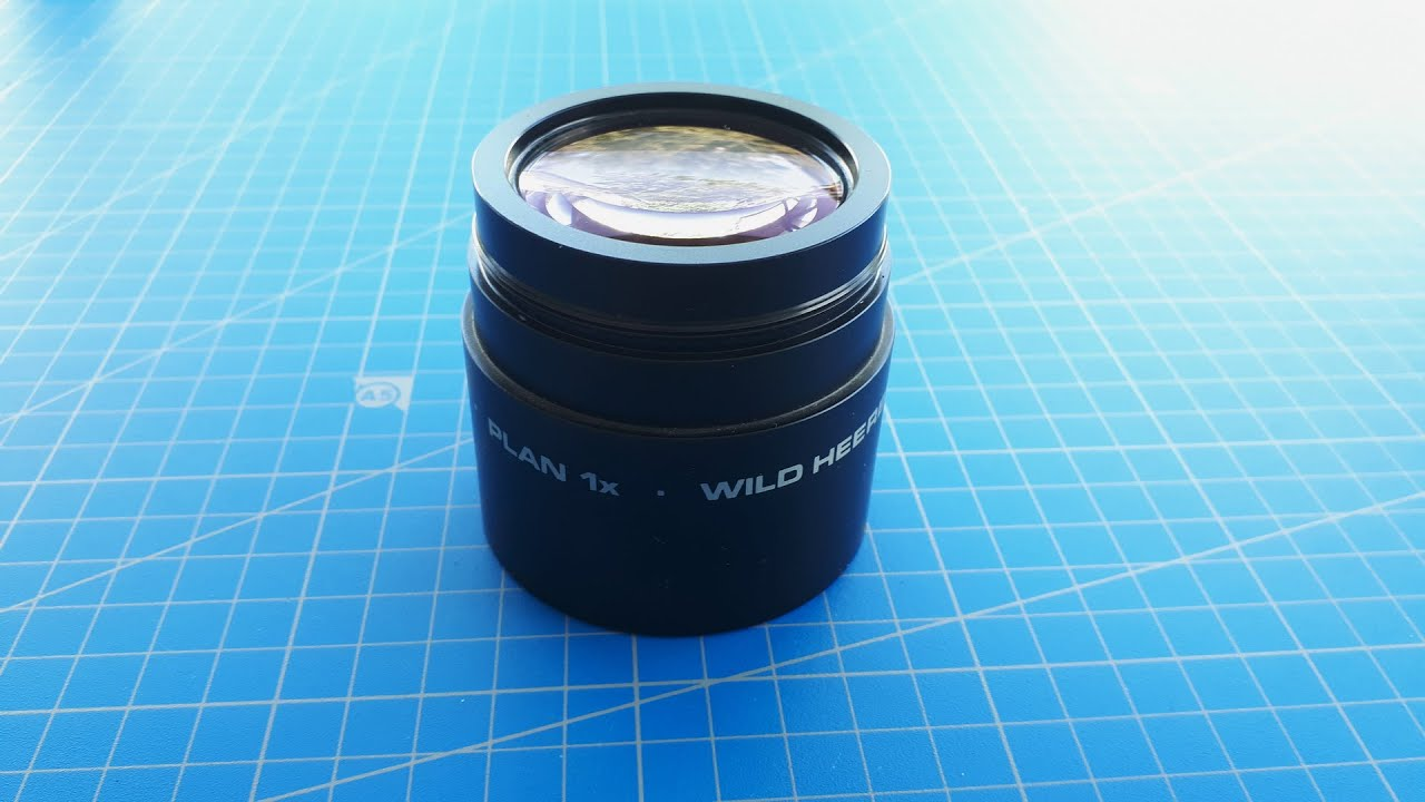 Wild Leica 1x Plan Objective For M8 Stereo Microscope I