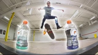 EPIC SKATEBOARD BOTTLE FLIPPING 2!!