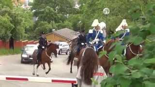 Kunglig kortege anländer Skansen för Nationaldagsfirande 6 Juni 2012