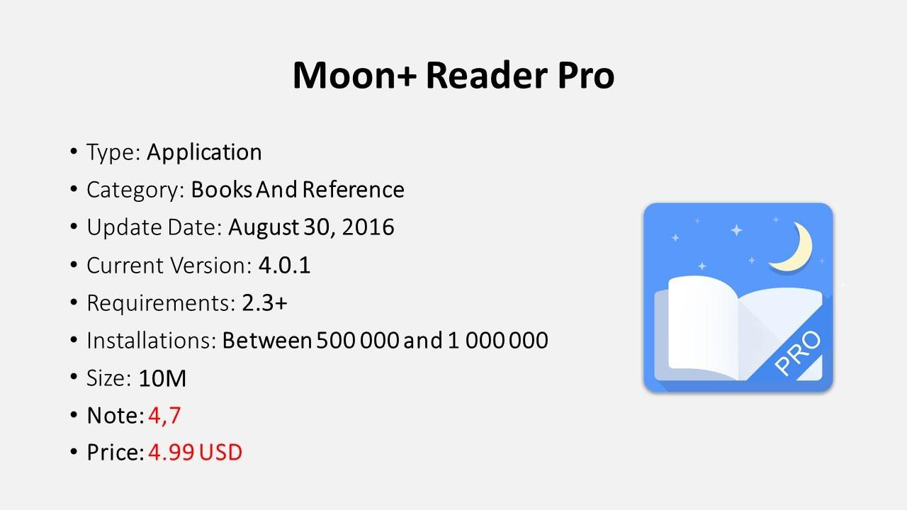 APK Reviews | Moon Reader Pro v4 0 1