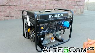 Запуск Бензинового генератора HYUNDAI HHY 7000F 5кВт смотреть