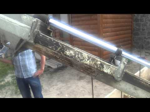 Телескопический лоток у бетонного миксера. Восстание машин