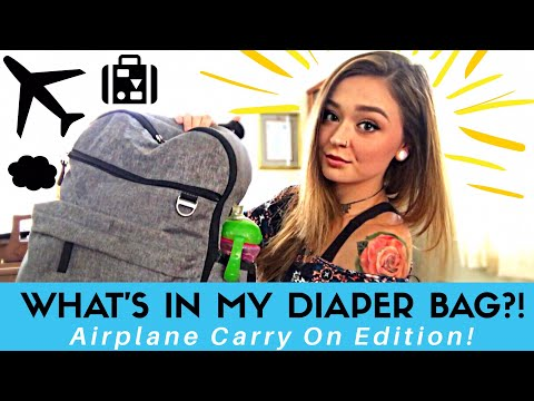 WHAT'S IN MY DIAPER BAG?! 👶🏼✈️💺 Airplane Carry On Edition - What I Pack!