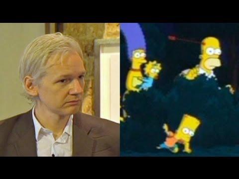 Julian Assange s'invite chez les Simpsons