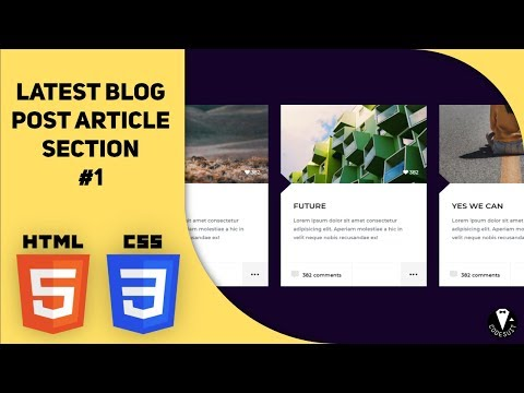 Latest Blog Post Article Section HTML CSS #1
