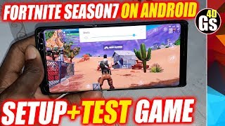Installing Fortnite Season 7 on Android Samsung Galaxy Note 8