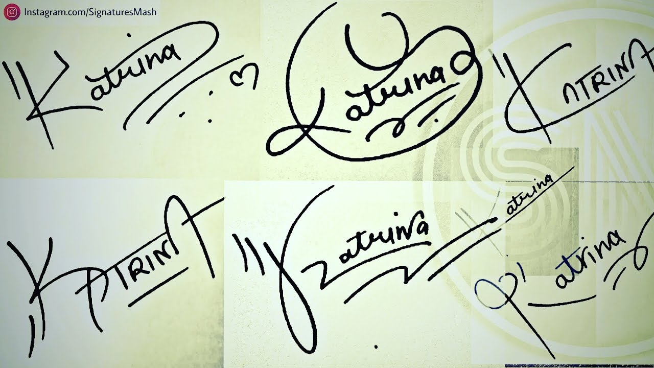 "How to Draw Signature like a Billionaire (For Alphabet ""K"") #1"