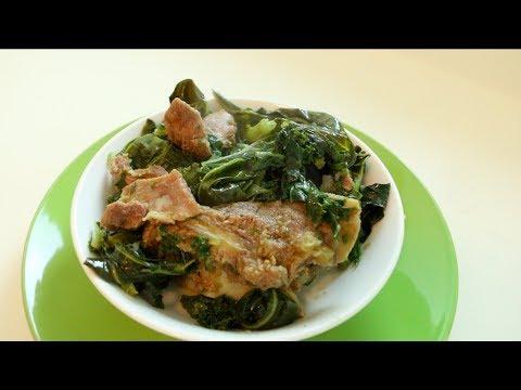 "Ethiopian Food ""How to Make Gomen Besiga"" የጎመን በስጋ አሰራር"