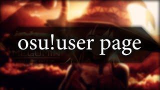 """osu!user page - оформление вашего """"юзерпейджа"""""""