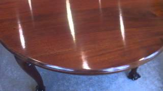 Edwardian Mahogany Circular Extending Dining Table