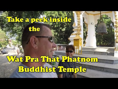 Inside the famous Wat Pra That Phanom Temple in Thailand.