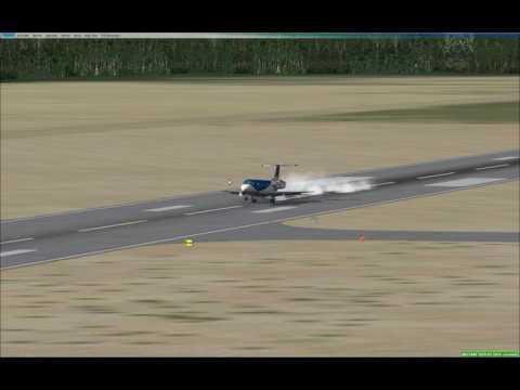 ERJ-135 landing into Monrovia Liberia RW24 (GLRB)