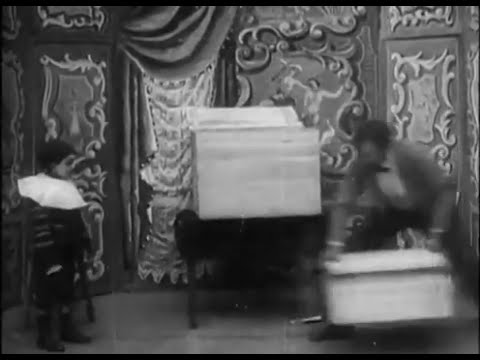 Magic illusion from 1898.  Disappear Magic Trick
