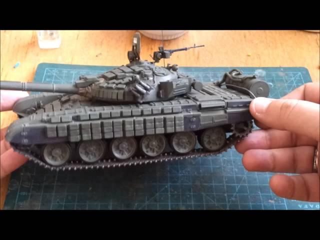 Сборка советского основного боевого танка Т-72Б - Звезда 3550. Фильтр, нанесение декалей