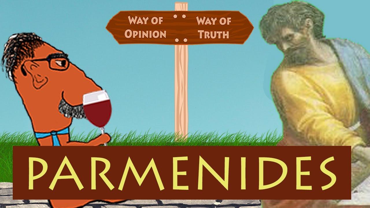 parmenides vs heraclitus