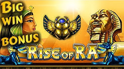 Rise of Ra big win bonus 152x. EGT slot