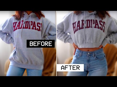 How to Crop Sew a Hoodie - YouTube