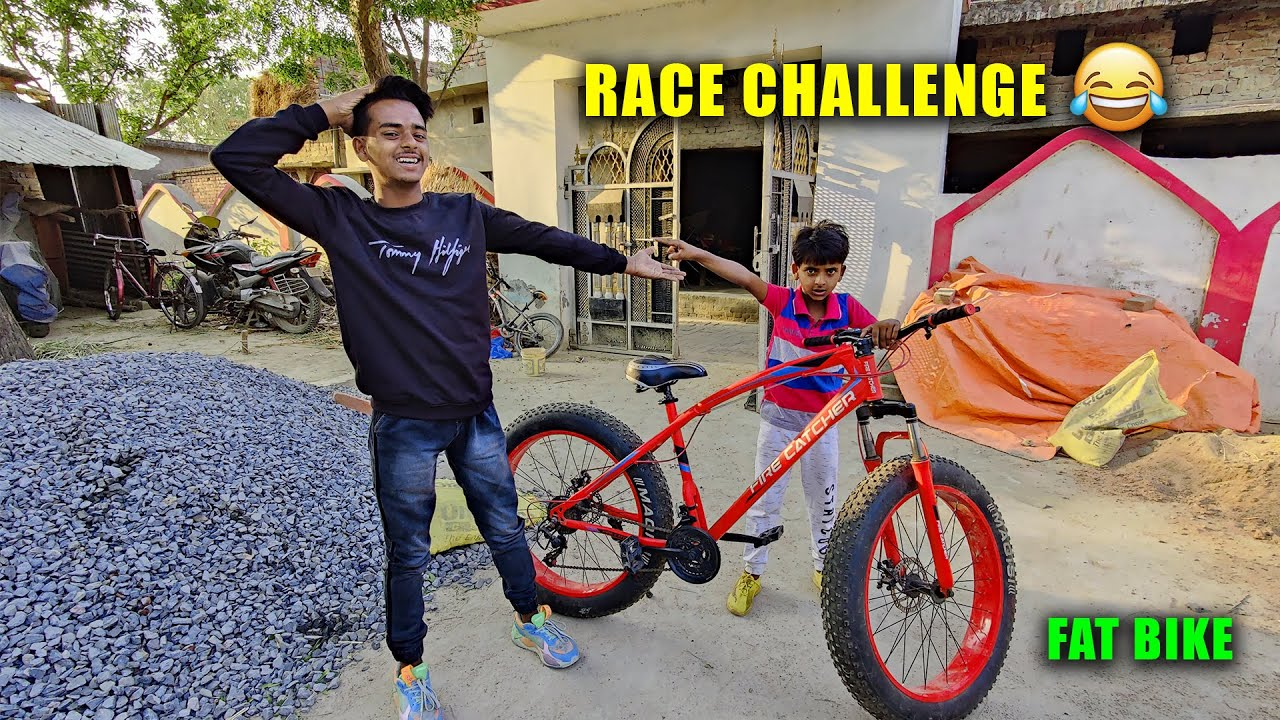 Zeeshan Ne kia Race Challenge ** FAT BIKE ** 😍