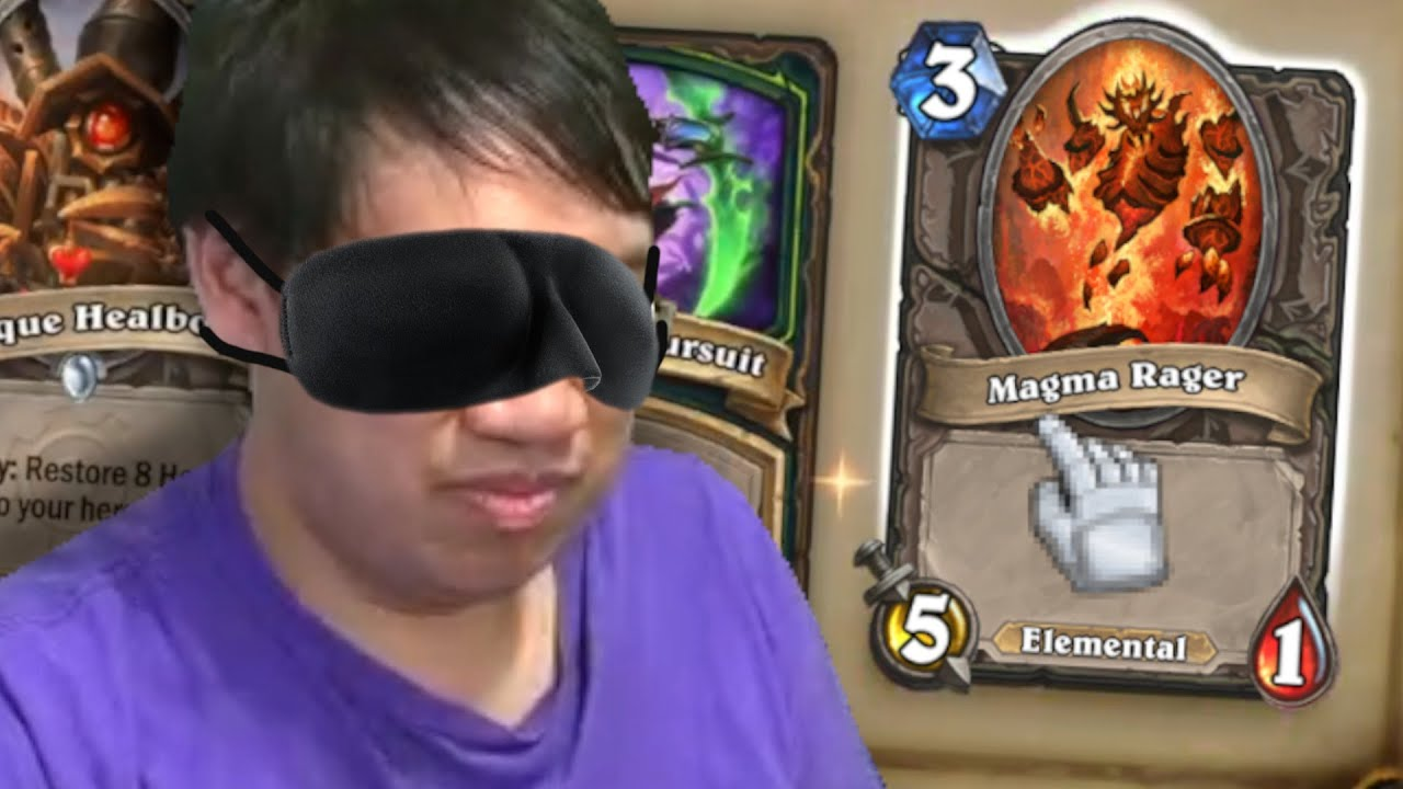 BLINDFOLDED Arena Draft?! Doesn't Matter Demon Hunter is OP! | Forged in the Barrens | Hearthstone