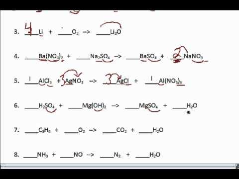 Practice W Balancing Equations Youtube