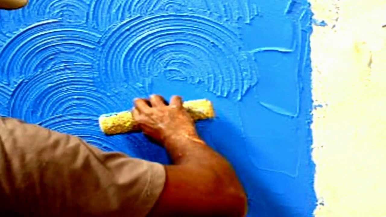 Textura meia lua videoaula que ensina 100 youtube - Texturas de paredes ...