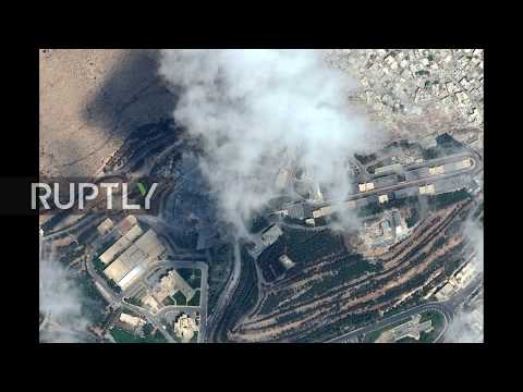 Syria: Before and after - Satellite images of Syrian strike targets