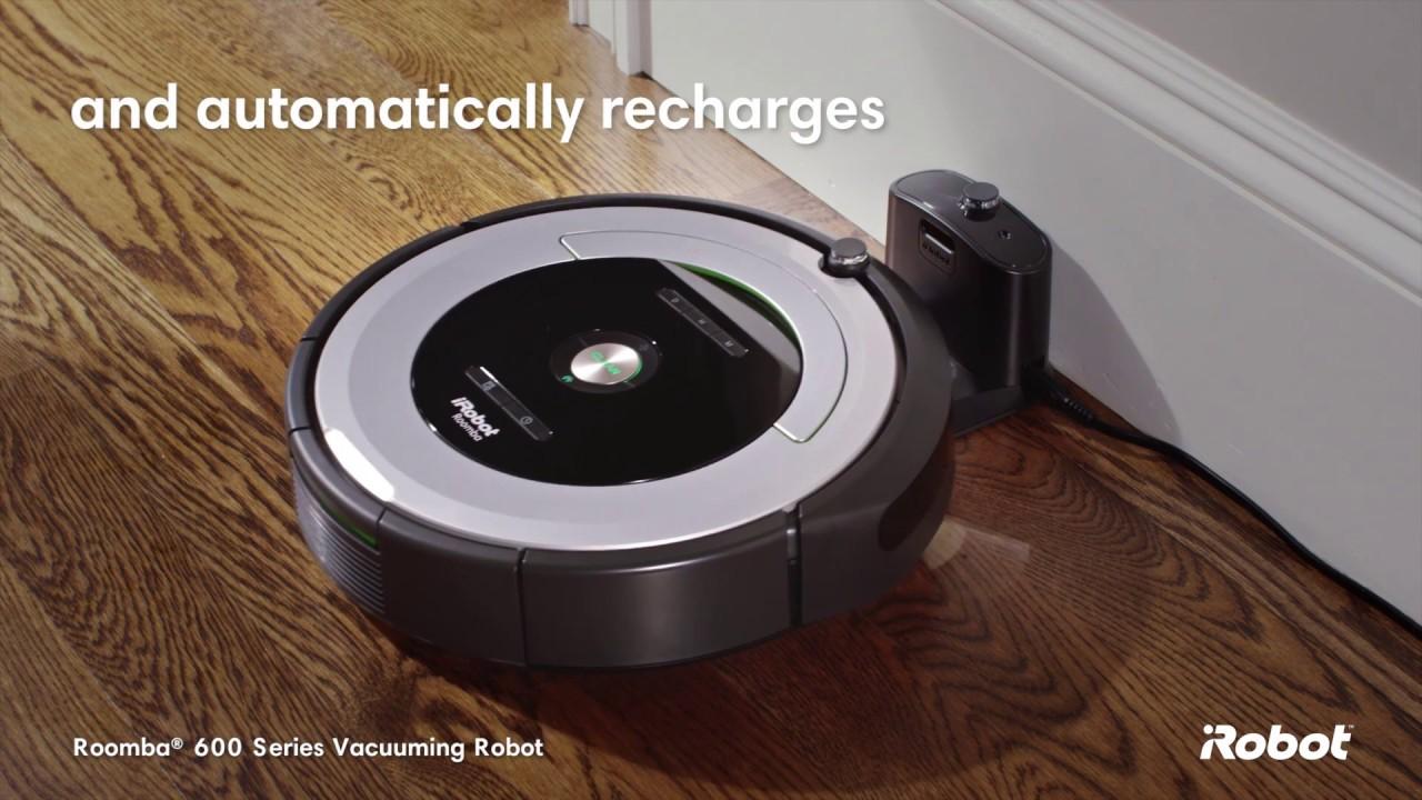 iRobot Roomba® 600 Series Robot Vacuum - YouTube 05bc1bd39b8d