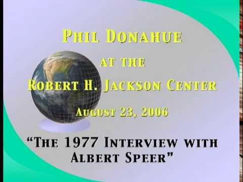 Phil Donahue (2006) on his Albert Speer Interview