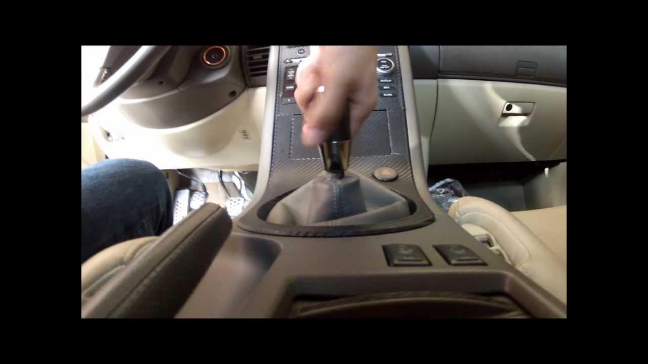 DIY G35 Manual shift knob remove removal  YouTube