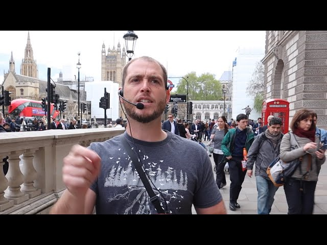 Preaching crowded London streets at Westminster